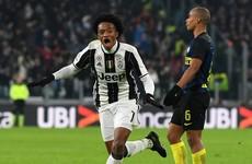A thunderbolt from on-loan Chelsea man Cuadrado settled the Derby d'Italia