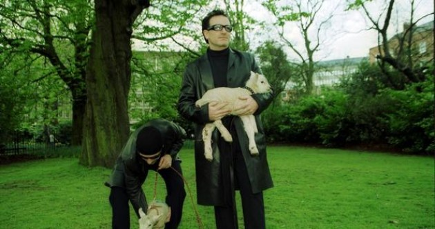 Why are Bono and The Edge grazing sheep in Stephen's Green in 2000? It's their right as Freemen of the City