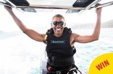 This photo of Barack Obama having the time of his life has become a great meme
