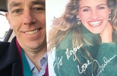 Julia Roberts sent Ryan Tubridy her autograph and a signed letter for some reason... it's The Dredge