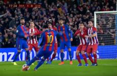 A lick of crossbar paint robbed us of a beautiful Messi free last night