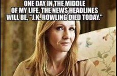 JK Rowling would like fans to stop 'making plans' for her death, thanks very much