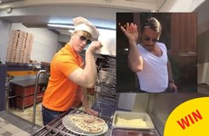 A Monaghan pizzeria has shared their very amusing take on the 'salt bae' meme