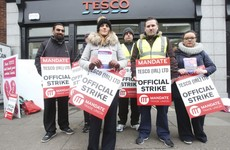 'We'll be here as long as it takes': Striking Tesco workers say they're in it for the long haul