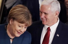 Pence vows 'unwavering' support for Nato as he receives praise from Bono at European meeting