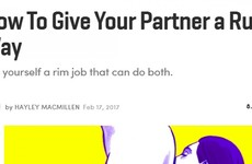 Cosmo wrote a how to guide to giving your partner a 'rusty trombone'