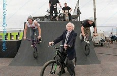 Our President on a BMX? Here's the story behind that famous photo