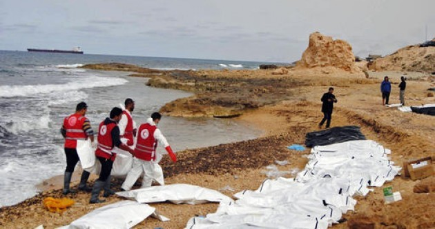 Bodies of 74 people wash up on Libyan beach
