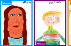 Next in line: Children's self-portraits take professionals' place in Merrion Square