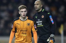 Cruel injury blow for Irish underage international after Wolves breakthrough