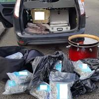 Gardaí seize �250,000 worth of cannabis at random traffic stop on motorway in Laois
