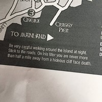 This Inis Mór map features some very Irish safety advice