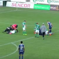 Footballer saves the life of opponent who swallowed his tongue