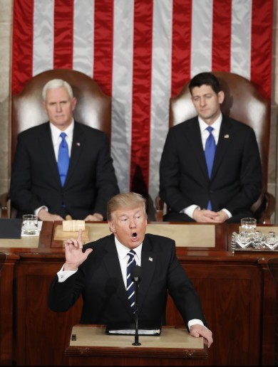 """Lincoln was right"": Trump offers restrained version of priorities in landmark address to Congress"