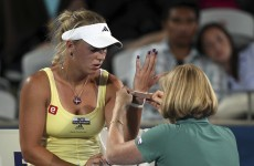 Wristy business: Wozniacki given the all-clear for Australia