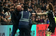 Pitch invader tries to attack Chelsea players after goal
