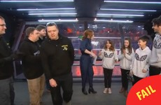 A man stormed off Robot Wars after losing to a team of kids last night