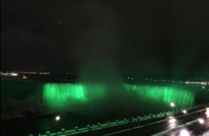 Niagara Falls went green last night