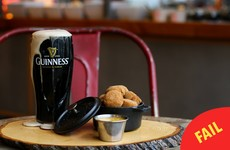 A Canadian cafe is using *this* pint of Guinness to advertise its Paddy's Day party