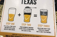 Guinness has an *interesting* three-step serving suggestion for people at SXSW