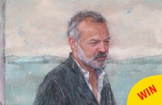 This glorious portrait of Graham Norton has just been hung in the National Gallery