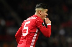 Watch: Marcos Rojo eats a banana during Man United's Europa League win