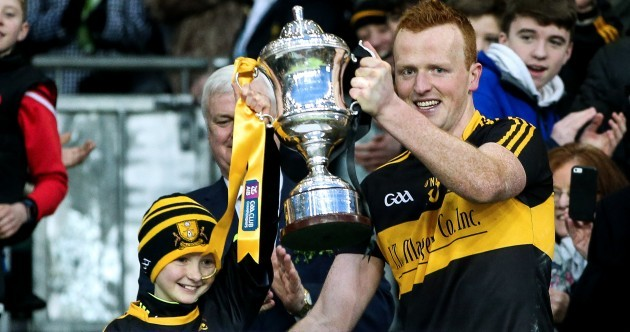 Lovely moment as Dr Crokes captain Buckley lifts All-Ireland trophy with 10-year-old fan