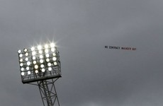 Arsenal fans fly 'No contract, Wenger out' plane over the Hawthorns