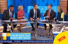 Everyone was absolutely loving Ryan Reynolds' appearance on Good Morning America