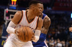 Perfection! Russell Westbrook made every shot on his way to last night's triple-double