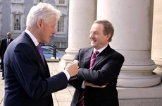 Bill Clinton dropped in to say hello to Enda Kenny today