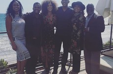The cast of The Fresh Prince of Bel Air reunited for a photo on Carlton's Instagram... it's The Dredge