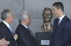 The bust unveiled at the newly-named Cristiano Ronaldo airport is pretty terrible