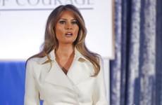 Melania Trump makes rare public speech calling for women's empowerment