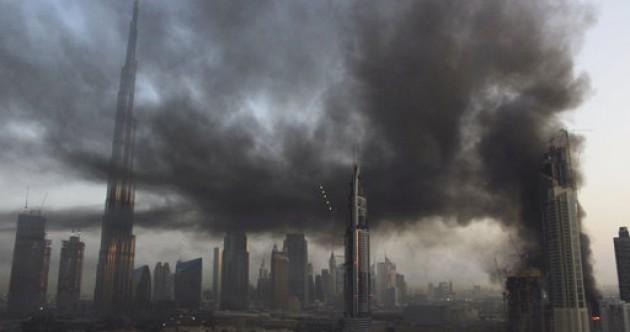 Large fire breaks out near world's tallest building in Dubai