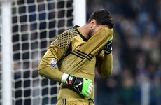 Oops! Remarkable Milan teenager Gigi Donnarumma had a moment to forget today