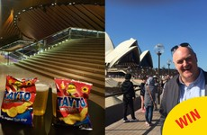 The Sydney Opera House sold Tayto specially for the Dara O Briain gig last night