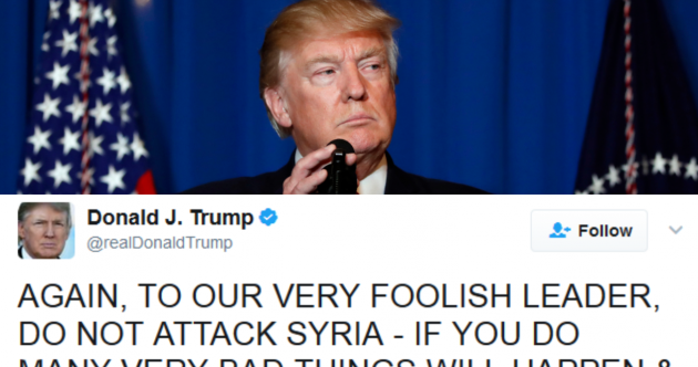 Syria airstrike: Donald Trump's 180 degree shift on attacking the Assad regime
