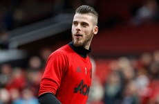 David de Gea absent from Man United side to face Sunderland