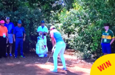 A young lad in a Kerry jersey was the real winner at yesterday's Masters
