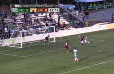 The most acrobatic goal ever? The United Soccer League threw up a cracker last night