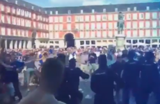 Ugly scenes in Madrid as Leicester City fans clash with Spanish police