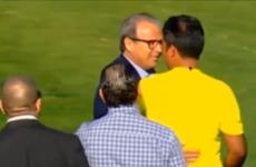 Bum-pinching Tunisian football boss slapped with life ban