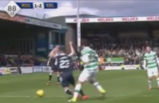 Referee conned by blatant dive as Celtic concede late penalty