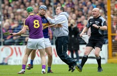 Wexford boss Davy Fitzgerald involved in heated on-field clash with multiple Tipperary players
