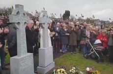 Martin McGuinness' gravestone unveiled in Derry