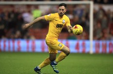 Greg Cunningham attempts to run off an injury for Preston - turns out it's a broken leg