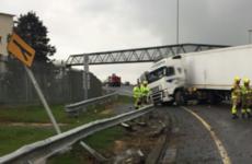 Delays on M50 as jackknifed truck blocks slip road