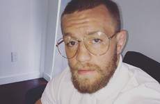 So it turns out Conor McGregor doesn't actually need those granda glasses he wears