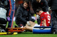 Zlatan Ibrahimovic set to miss the rest of the season with a knee injury